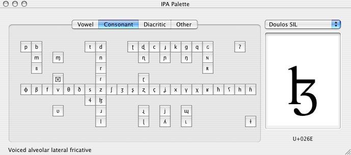 Ipa symbols chart Mac